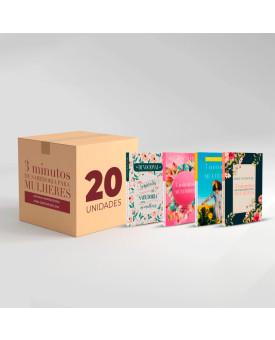 Caixa com 20 Devocionais | 3 Minutos de Sabedoria Para Mulheres