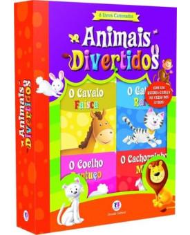 Caixa Animais Divertidos | 6 Livros Cartonados | Ciranda Cultural