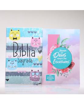 Kit Bíblia RC Slim Cats + Jornada com Deus Através das Escrituras | Garota Virtuosa