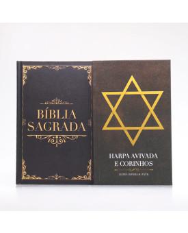 Kit Bíblia Minha Jornada com Deus NVI Clássica + Harpa Avivada e Corinhos | Louvando à Todo Momento