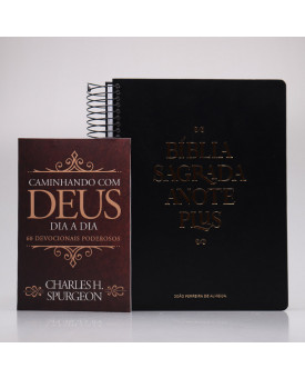 Kit Bíblia Anote Plus + Devocional Spurgeon Clássica | Homem Sábio