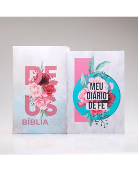 Kit Meu Diário de Fé | Bíblia 365 + Colagem