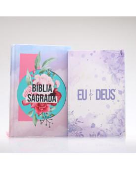 Kit Colagem | Bíblia + Eu e Deus Lilás | Orar e Vencer