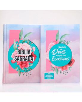 Kit Bíblia + Guia Bíblico | Jornada com Deus Através das Escrituras | Colagem