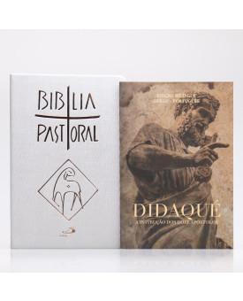 Kit Bíblia Pastoral Colorida Letra Normal Luxo + Didaqué | Vivenciando a Fé