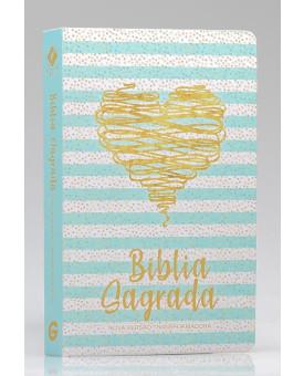 Bíblia Sagrada | NVT | Letra Grande | Capa Dura | Coração Brilhante