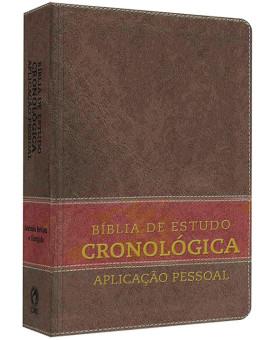 Bíblia De Estudo | Cronológica | Tarja Marrom