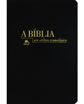 Bíblia Cronológica | NVI | Luxo | Preta