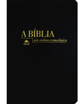 Bíblia Cronológica Luxo - Preta