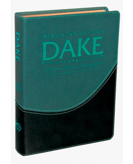 Bíblia De Estudo Dake | RC | Letra Normal | Capa Sintética | Verde e Preta