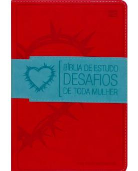 Bíblia de Estudo Desafios de Toda a Mulher | NVI | Média | Vermelha