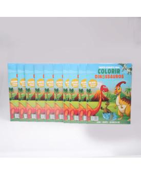 Kit 10 Livros   Tapete Gigante Para Colorir   Dinossauros