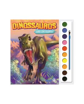 Livro com Aquarela | Dinossauros | Ciranda Cultural