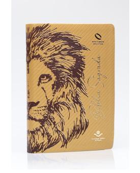 Bíblia Sagrada | NAA | Letra Grande | Capa Sintética | Leão Dourado