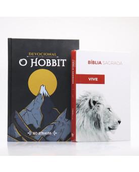 Kit Bíblia ACF Letra Normal Ele Vive + Devocional O Hobbit | Aventuras Diárias