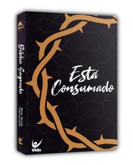 Bíblia Sagrada | NVI | Está Consumado | Letra Pequena | Semi-Luxo | Preta