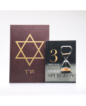 Kit Bíblia ACF Capa Dura Estrela de Davi + Devocional 3 Minutos com Charles H. Spurgeon | Vivendo com Propósito