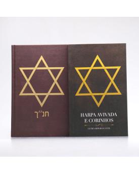 Kit Bíblia Minha Jornada com Deus NVI Estrela de Davi + Harpa Avivada e Corinhos | Louvando à Todo Momento