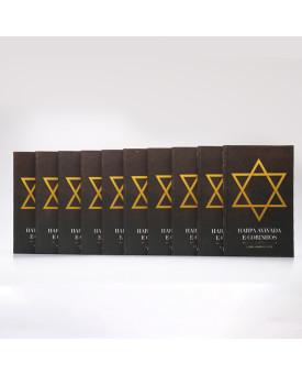 Kit 10 Harpas Avivadas e Corinhos   Brochura   Letra Hipergigante   Estrela de Davi