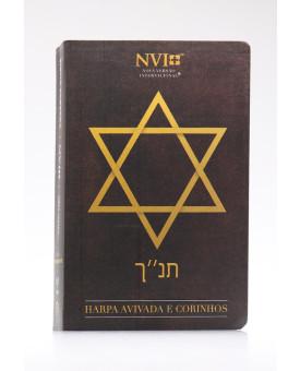 Bíblia Sagrada   NVI   Harpa Avivada e Corinhos   Letra Hipergigante   Semi-Flexível   Estrela de Davi