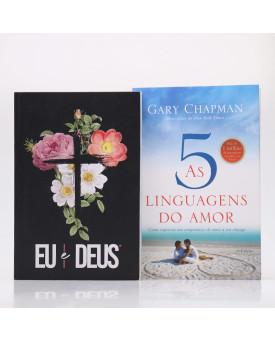 Kit 2 Livros   As Cinco Linguagens do Amor + Eu e Deus Flores Cruz