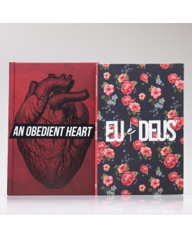 Kit Bíblia NAA Coração Obediente + Eu e Deus Rosas | Fé Restaurada
