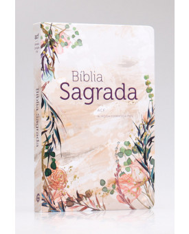 Bíblia Sagrada | ACF | Letra Normal | Capa Dura | Flor Marmorizada