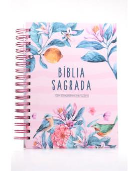 Bíblia Sagrada | NVI | Letra Normal | Capa Dura | Primavera | Espiral | Com Espaço Para Anotações