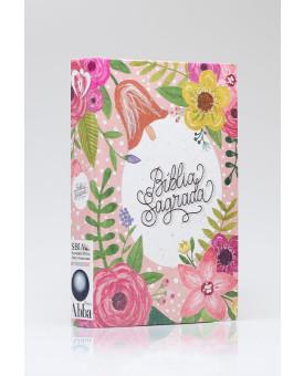 Bíblia Sagrada | King James Atualizada | Letra Grande | Lettering | Floral