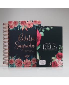 Kit Jornada com Deus Através das Escrituras Floral | Anote Rosas