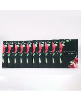 Kit 10 Harpas Avivadas e Corinhos   Brochura   Letra Hipergigante   Floral