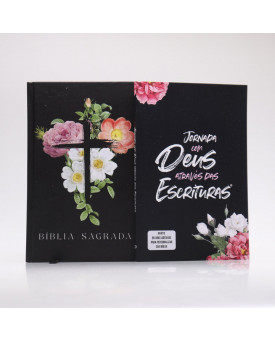 Kit Bíblia + Guia Bíblico | Jornada com Deus Através das Escrituras | Flores Cruz