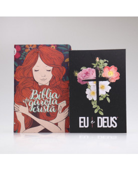 Kit Bíblia da Garota Cristã + Eu e Deus | Flores Cruz