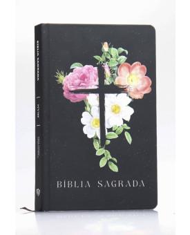 Bíblia Sagrada | NVI | Letra Normal | Capa Dura/Soft Touch | Flores Cruz