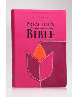 Preacher's Bible - Bíblia do Pregadora | King James Version | Letra Normal | Capa PU | Flor