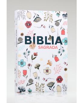 Bíblia Sagrada | NTLH | Letra Grande | Soft Touch | Flowers Branca