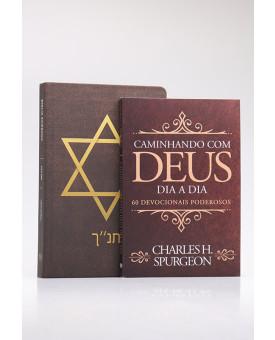 Kit Bíblia NVI Estrela de Davi + Devocional Spurgeon Clássica | Homem Sábio