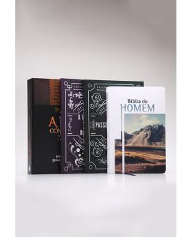 Kit Torá + Bíblia do Homem + Clássicos Cristãos | Homens de Honra