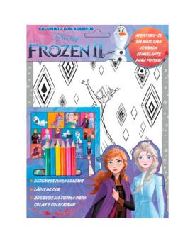 Colorindo Com Adesivos   Frozen II   Aquarela