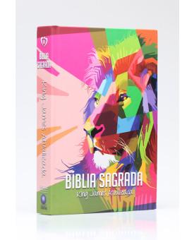 Bíblia Sagrada | King James Atualizada | Letra Grande | Capa Dura | Leão | Geométrica