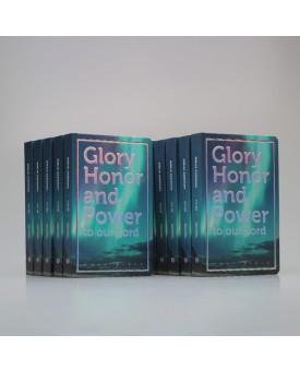 Kit 10 Bíblias | Glory Honor and Power | NVI | Letra Média | Luxo | Azul