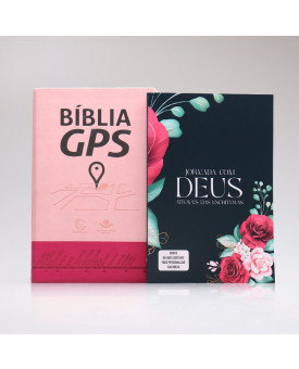 Kit Bíblia GPS + Jornada com Deus Através das Escrituras | Floral