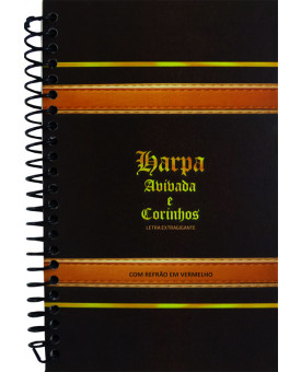 Harpa Avivada e Corinhos | Masculina | Letra Extragigante | Marrom Escuro