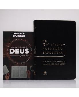 Kit Bíblia Pregação Expositiva Hernandes Dias Lopes Preto Black Piano + Devocional Spurgeon | Café