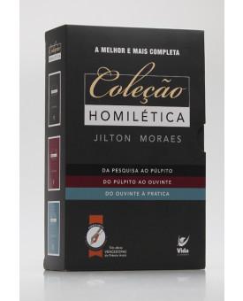 Kit 3 livros   Homilética   Jilton Moraes