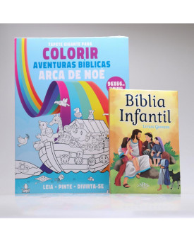 Kit Bíblia + Tapete para Colorir | Aventuras Bíblicas