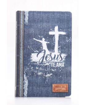 Bíblia Sagrada   NVI   Letra Normal   Soft Touch   Jeans Azul