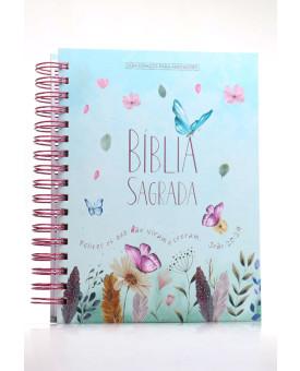 Bíblia Sagrada | NVI | Letra Normal | Capa Dura | Jardim Secreto | Espiral | Com Espaço Para Anotações