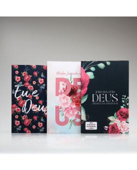 Kit 3 Livros | Momento com Deus | Floral