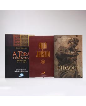 Kit Bíblia de Jerusalém + Torá + Didaqué | Catecismo Cristão